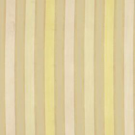 Bourbon Stripe - Yellow Lotus - Fabric made from vertically striped 100% cotton, with narrow, even bands in pale shades of cream, beige, yel