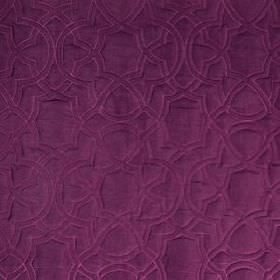 Garlyn - Magenta - Very subtle, elegant patterns covering vibrant violet coloured fabric blended from several different materials