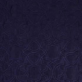 Garlyn - Navy - Several different materials blended together into a luxurious deep midnight blue coloured fabric with a subtle pattern