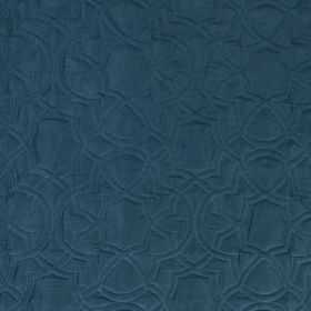 Garlyn - Neptune - Marine blue coloured fabric blended from a mixture of several materials, featuring a very subtle pattern