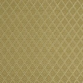 Romandie - Cashmere - Silk, cotton and acrylic blend fabric made in a warm wheat colour, featuring rows of small, subtly patterned diamonds