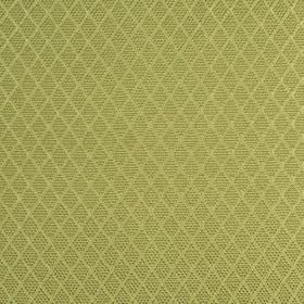 Romandie - Leaf - Rows of small, slightly patterned diamonds on a creamy green silk, cotton and acrylic blend fabric background