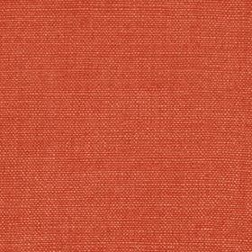 Linseed Solid - Clay - Fabric woven from a blend of tomato coloured linen and polyamide