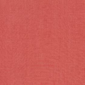 Linseed Solid - Coral - Warm pink coloured fabric made from a blend of linen and polyamide