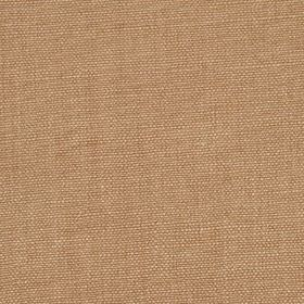 Linseed Solid - Dark Honey - Light brown coloured linen and polyamide blend fabric finished with a subtle light pink tinge
