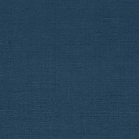 Linseed Solid - Indigo - Deep denim blue coloured fabric made from 91% linen and 9% polyamide