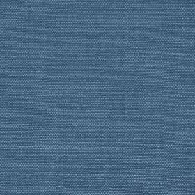Linseed Solid - Island Blue - Fabric made from bright cobalt blue coloured linen and polyamide
