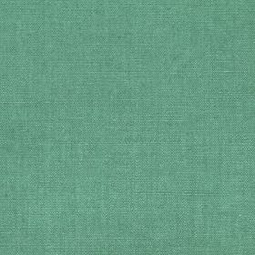 Linseed Solid - Jade - Stylish turquoise coloured linen and polyamide blend fabric