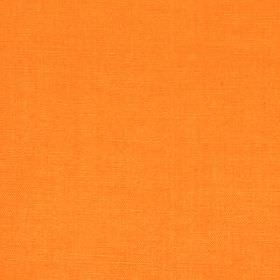 Linseed Solid - Marigold - Plain fabric blended from linen and polyamide in a bright, vivid shade of orange