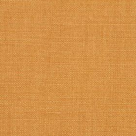 Linseed Solid - Ochre - Fabric woven from a mixture of linen and polyamide in a light orange colour