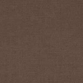 Linseed Solid - Otter Brown - Dark battleship grey coloured linen and polyamide blend fabric