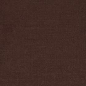 Linseed Solid - Walnut - Espresso brown coloured linen and polyamide blend fabric