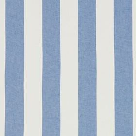 Divya Stripe - Indigo - Cobalt blue and white coloured stripes alternating on fabric made entirely from linen