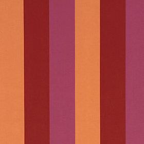 Jasmine Stripe - Magenta Red - Cotton and linen blend fabric made with a simple vertical stripe design in warm shades of apricot, burgundy a