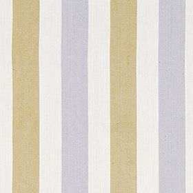 Lotus Stripe - Chartreuse - Alternating bands of light brown and grey running down a chalk white linen and cotton blend fabric background