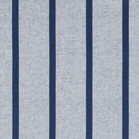 Masala Stripe - Indigo - Navy and light grey coloured fabric blended from cotton and linen, featuring thin, regular, evenly spaced stripes