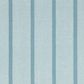 Masala Stripe - Lagoon - Vertical stripes patterning cotton and linen blend fabric in 2 shades of duck egg blue, with a thin, widely spaced de
