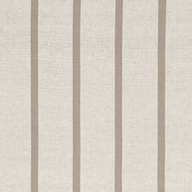 Masala Stripe - Linen - Pale grey-white coloured cotton and linen blend fabric behind a thin, even, widely spaced design of darker grey stri