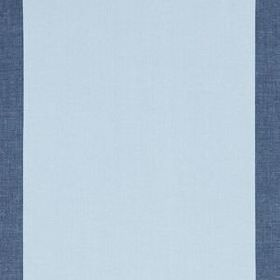 Panel Stripe - Indigo - Very wide bands of icy blue and denim blue patterning fabric made entirely from linen