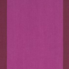 Panel Stripe - Magenta Red - Fabric made from 100% linen, with a very wide, simple vertical stripe design in vivid violet and dark aubergine