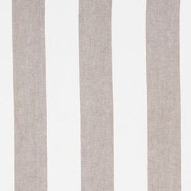 Divya Stripe - Linen - Vertically striped fabric made from 100% linen in purple-grey and white colours