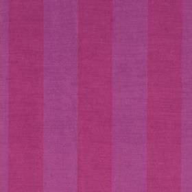 Divya Stripe - Magenta Red - Vivid violet and magenta coloured stripes running vertically down fabric made from 100% linen