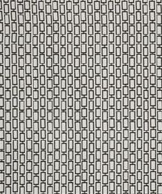Art Angle - Black & White - Small outlines of black rectangles arranged in rows on a pale grey 100% silk fabric background