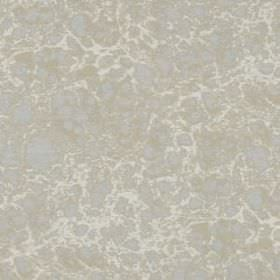 Dolomite - Silver Gold - Cloud patterned silk and linen blend fabric featuring light blue and grey patches on an even paler grey background