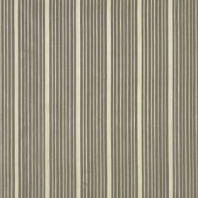 Kelly Stripe - Silver Gold - Thin, vertical lines arranged in clusters on 100% silk fabric made in white, ash grey and iron grey