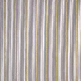 Kelly Stripe - Violet - Fabric made from 100% silk in pewter, white and light lilac-blue, featuring groups of thin, simple vertical lines