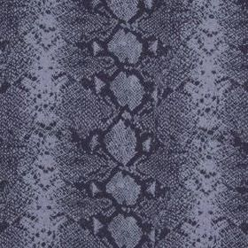 Mia - Purple - Fabric made from wool and silk, featuring a striking reptile skin pattern in deep and dusky shades of blue