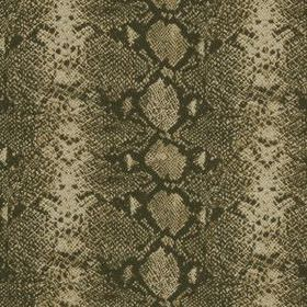 Mia - Umber - Beige and various shades of grey-brown making up a reptile skin style pattern on wool and silk blend fabric