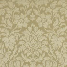 Mon Cheri - Ivory - Beige coloured silk and linen blend fabric patterned with large, elegant designs of flowers and leaves