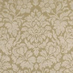 Mon Cheri - Rosewater - Fabric made from silk and linen in light shades of grey and brown, patterned with large, elegant flowers and leaves