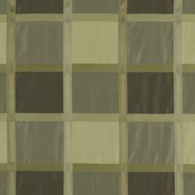 Monte Rosa - Pewter - 100% silk fabric made in various shades of grey and green-grey, featuring a simple, stylish grid pattern