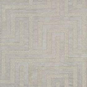 Olympus - Silver - A simple, stylish maze style design patterning polyester, cotton and silk blend fabric in 2 similar shades of silver-grey