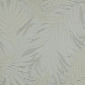 Silk Botany - Silver - Very subtle leaves creating a large, elegant pattern on pale cloud grey coloured viscose and silk blend fabric