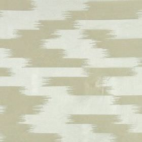 Stills Stripe - Silver - Fabric made from 100% silk instone and off-white colours, featuring a random pattern of blurred horizontal lines