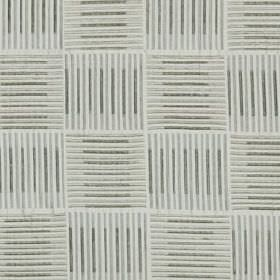 Painters Brush - Silver - Shades of grey making up a checkerboard style design of blocks of thin horizontal and vertical lines on 100% silk