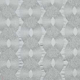Rockhopper - Moonstone - Classic silver-grey coloured cotton, silk and acrylic blend fabric, featuring a stylish design of overlapping wavy