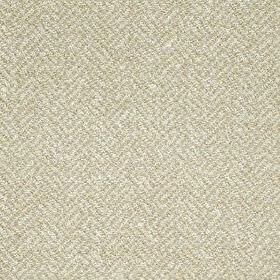 Terrazzo Weave - Dark Honey - White and pale grey coloured fabric made from acrylic, polyester and cotton, woven with a stylish herringbone