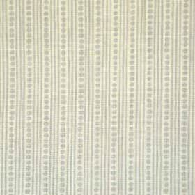 Wicklewood Reverse - Light Grey On Rustic - Two different light shades of grey making up a dot and thin vertical stripe pattern on fabric ma