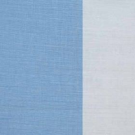 Winfield Stripe II - Marine - Bright sky blue and very pale blue coloured fabric made from linen, cotton and nylon, featuring very wide stri