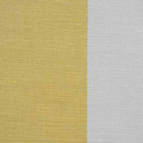 Winfield Stripe II - Gold - Linen, cotton and nylon blend fabric made in silver and gold, featuring a very wide pattern of vertical stripes