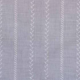 Pelham Stripe - Lavender - Lavender and white coloured linen and polyamide blend fabric, with vertical stripes made up of tiny diagonal line