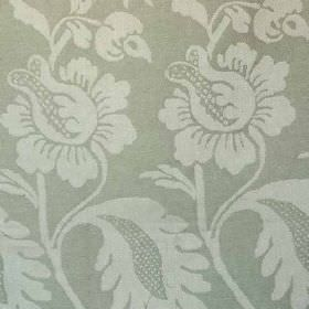 Onslow - Green - Elegant designs covering 100% linen fabric in a repeated pattern, made in ash and dove shades of grey