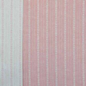Ebury - Pink - Very pale grey-white and light pink coloured fabric made from 100% linen, printed with neat rows of very small dots