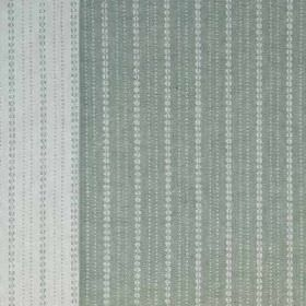 Ebury - Green - Two different shades of grey making up a pattern of rows of very small dots, printed on versatile 100% linen fabric