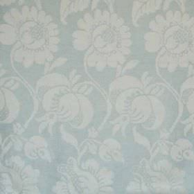 Onslow - Blue - Subtle, elegant patterns covering 100% linen fabric in pale, similar shades of blue and grey