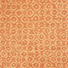 Albemarle - Tangerine - A small, elegant, repeated pattern woven into rayon, cotton and linen blend fabric made in apricot and coral colours